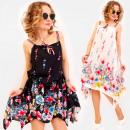 Großhandel Fashion & Accessoires: C17667 Frauenkleid, Zierband, Floral