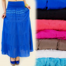 FL216 MAXI SKIRT, LACE, BOHO STYLE MIX