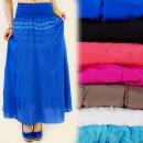 wholesale Skirts: FL216 MAXI SKIRT, LACE, BOHO STYLE MIX