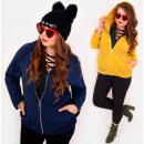 EM05 Frauen Oversize Hoodie, Plus Size Jacke