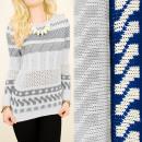 wholesale Pullover & Sweatshirts: A8101 Patterned Women Sweater, Openwork Insert