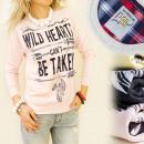 K197 KATOEN  sweatshirt,  opdruk: WILD ...