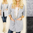wholesale Coats & Jackets: C24139 Loose Jacket, Oversize Cardigan, Melange