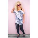 wholesale Shirts & Blouses: BI718 Blouse, Oversize Tunic, Newspaper Print