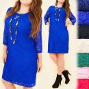 hurtownia Fashion & Moda: BI628 Elegancka,  Koronkowa  Sukienka, Duże ...
