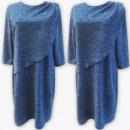 Großhandel Kleider: D4009 Kleid, Made In Poland, 44-52, Navy