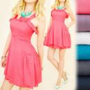 C11260 Romantic Dress, Open Shoulders, Frill
