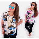 wholesale Fashion & Apparel: C11488 Romantic  Plus Size Blouse, Summer Flowers