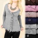 C22145 Romantyczny Sweter, Cudowny Dekolt, Kaszmir