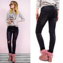 B16661 Effektive  Jeans mit Löchern, Magic Black