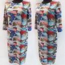 Großhandel Kleider: D4054 Kleid, Made in Poland, Plus Size 44-52