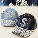 wholesale Headgear: FL201 FASHIONABLE  HAT, Basecap JEANS, DOLLAR