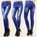 wholesale Jeanswear: B16474 glamorous  jeans, holes, abrasions