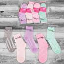 Großhandel Strümpfe & Socken: 4311 Cotton Damen Socken, Gürtel und Blätter