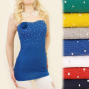 Großhandel Fashion & Accessoires: BB123 Romantisches Top, Bluse, Ausschnitt, Herz, J
