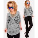 Großhandel Hemden & Blusen: R62 Lose Oversize-Pullover, warme Bluse, ...