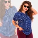 Großhandel Hemden & Blusen: C11557 Schöne Bluse, goldene Knöpfe, Punkte