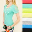 groothandel Kleding & Fashion: D2622 MOOIE TOP,  blouse, kant op de mouwen