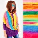 Großhandel Tücher & Schals: FL698 Regenbogenkamin, Schal, Blickfang