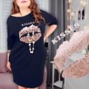 grossiste Vetements: 4844 Plus la taille robe tunique robe, ...