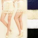 Großhandel Röcke: C17137 Spitzenrock, Shorts im Boho-Stil