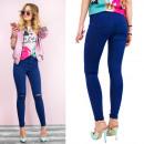 B16652 Női nadrág,  Jeans lyukkal, Navy Blue