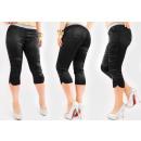 mayorista Ropa / Zapatos y Accesorios: A1995 Satin Pants, Silver Belt, 3/4 length