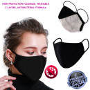 wholesale Drugstore & Beauty: Protective face mask, black-bell, rubber