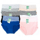 wholesale Belts: Bamboo Women's Panties, Stripes XXL-3XL, 5551