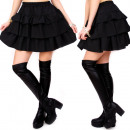 wholesale Skirts: C24195 Made in  Poland, Frill Skirt, Black