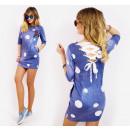 D1412 Cotton Dress, Tunic, Beautiful Back