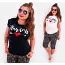 K531 Bawełniany T-shirt Damski, Top, Arrow Of Love