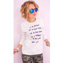 hurtownia Fashion & Moda: A806 Bawełniana Bluza Damska, Nadruk: Let`s Go