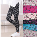 Leggings For Girls, 104-152, Kitties, 5392