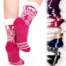 4203 Warm Long Socks, ABS Slippers, Faux Fur