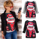 Großhandel Pullover & Sweatshirts: K497 Loose Cotton Sweatshirt, Bluse, nassen Kuss