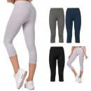 Großhandel Hosen:-Baumwoll Damengamaschen, Farben M-2XL, 5590