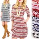 Großhandel Fashion & Accessoires: 4202 Gemusterte  Kleid, Tunika, Aufmaß