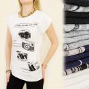Großhandel Fashion & Accessoires: K316  Baumwollbluse, TOP CREATIVE KAMERAS