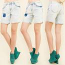 Großhandel Shorts: B16506 WOMEN JEANS SHORTS, FLECKEN