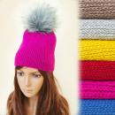 Großhandel Kopfbedeckung: FL641 Schöne Wintermütze, Pompon, Saftige ...