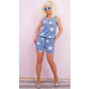 Großhandel Hosen: BI750 Sommer Overalls, Golden Slider und Streifen