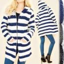 wholesale Pullover & Sweatshirts: B16560 Cardigan Sweater, Cape, Charming Stripes