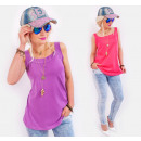 Großhandel Fashion & Accessoires: BB198 Baumwolle Top Bluse Universal Loose Fit