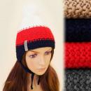 FL632 Schöne, warme Kappe, Hut mit Ohrenschützern