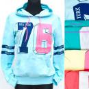wholesale Pullover & Sweatshirts: Women Hoodie, Sporty Style, Pastels, UNI, 5211