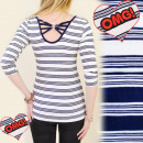 Großhandel Hemden & Blusen: BI253 BLUSE STYLE CAPRI, große HINTEN, EMBLEM