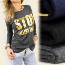 K172 TOP, blouse,  met lange mouwen, GOLD PRINT