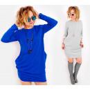 C24227 pulóver ruha, laza stílusos tunika, színek
