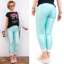 B16675 Women Pants, Gold Sliders, Only Mint, waxed